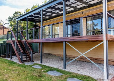 Spotted Gum Deck and Pergola, Flagstaff hill