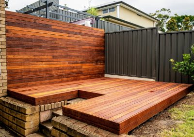 Merbau deck and screen, Burnside