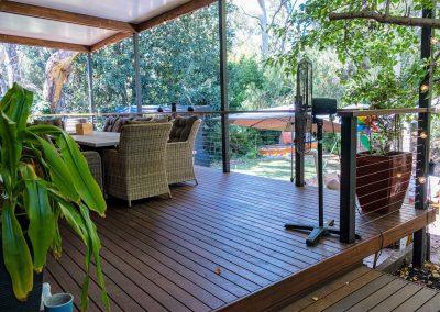 Merbau deck, Insulated roof, Garden screen
